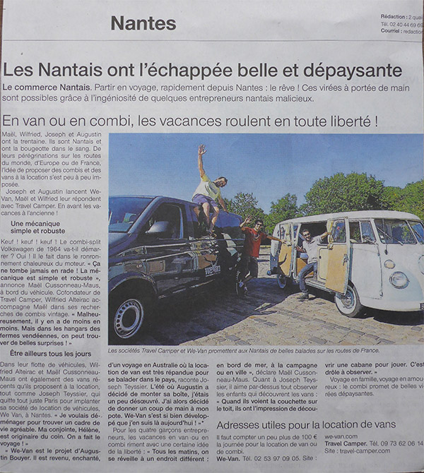 Ouest France Article Travel Camper 1